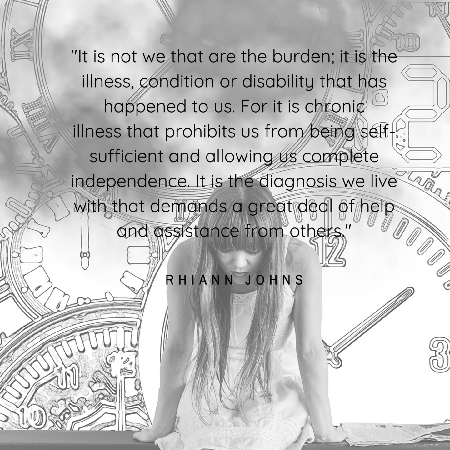 Chronic Illness is the burden and not you