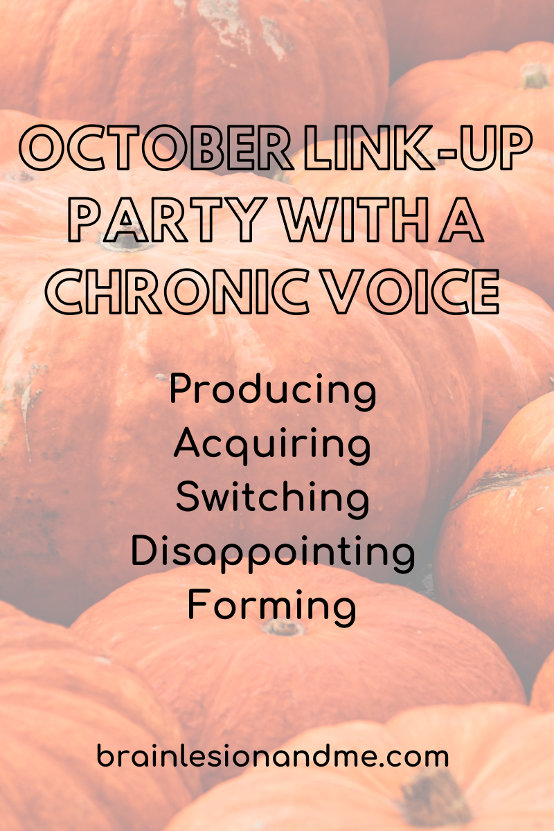 October Link-Up Party with A Chronic Voice